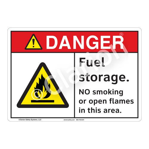 Danger Fuel Storage Sign (F1155-)