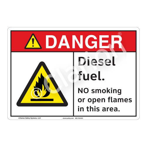 Danger Diesel Fuel Sign (F1156-)