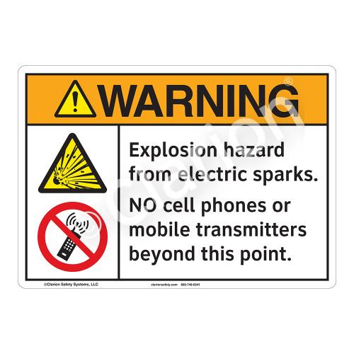Warning Explosion Sign (F1160-)