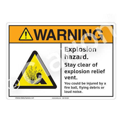 Warning/Explosion Hazard Sign (F1162-)