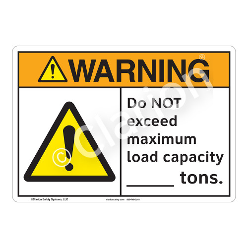 Warning Do Not Exceed Sign (F1170-)