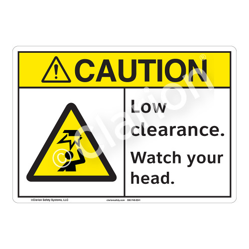 Caution Low Clearance Sign (F1172-)