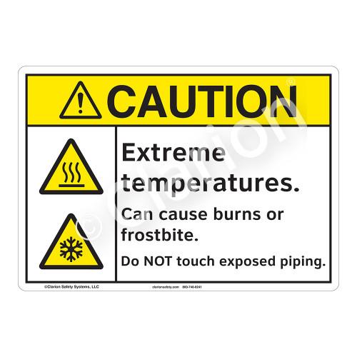 Caution Extreme Temperatures Sign (F1178-)