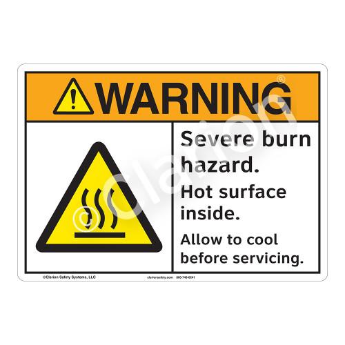 Warning Severe Burn Sign (F1179-)