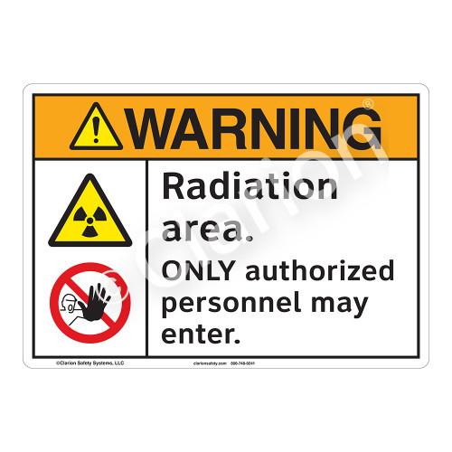 Warning Radiation Sign (F1183-)