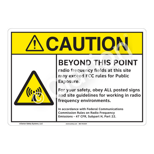 Caution Beyond This Point Sign (F1186-)