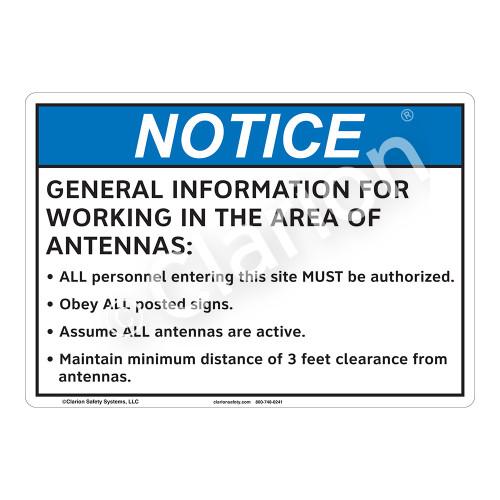Notice General Information Sign (F1187-)