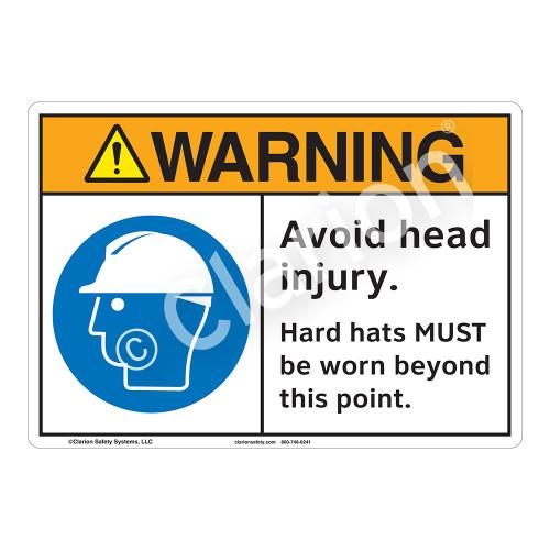 Warning Avoid Head Injury Sign (F1189-)