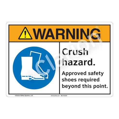 Warning Crush Hazard Sign (F1192-)