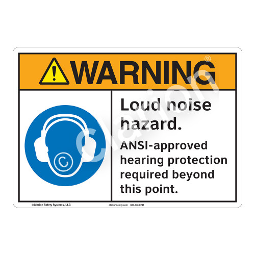 Warning Loud Noise Sign (F1197-)
