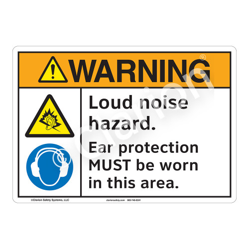 Warning Loud Noise Sign (F1198-)