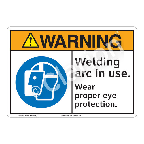 Warning Welding Arc Sign (F1205-)