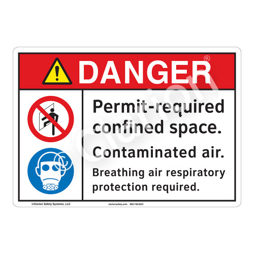 Danger Permit Required Sign (F1207-)