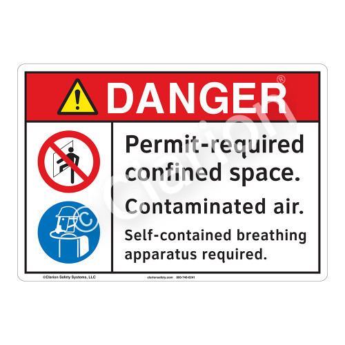Danger Permit Required Sign (F1209-)