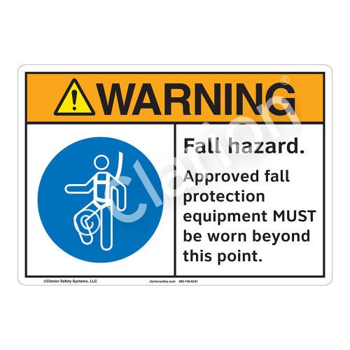 Warning Fall Hazard Sign (F1212-)
