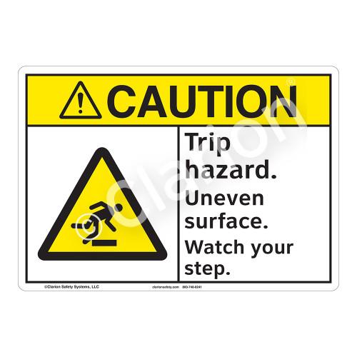 Caution Trip Hazard Sign (F1216-)