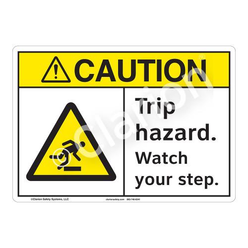 Caution Trip Hazard Sign (F1217-)