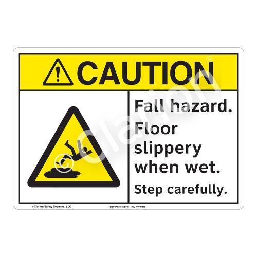 Caution Fall Hazard Sign (F1218-)