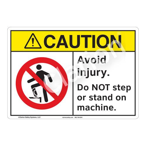 Caution Avoid Injury Sign (F1219-)