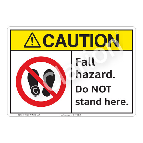 Caution Fall Hazard Sign (F1220-)