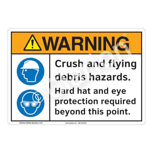 Warning Crush Sign (F1225-)