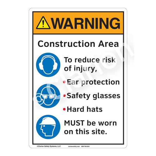 Warning Construction Area Sign (F1226-)