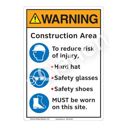 Warning Construction Area Sign (F1227-)