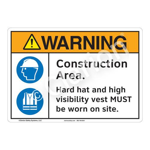 Warning Construction Area Sign (F1228-)