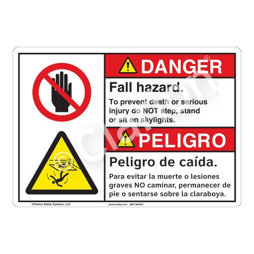 Danger/Fall Hazard Sign (F1231-)