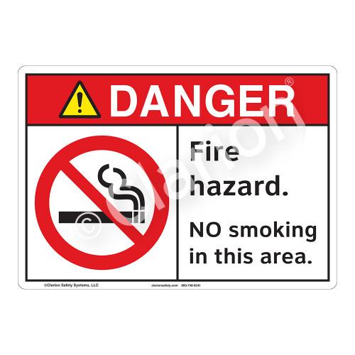 Danger/Fire Hazard Sign (F1236-)