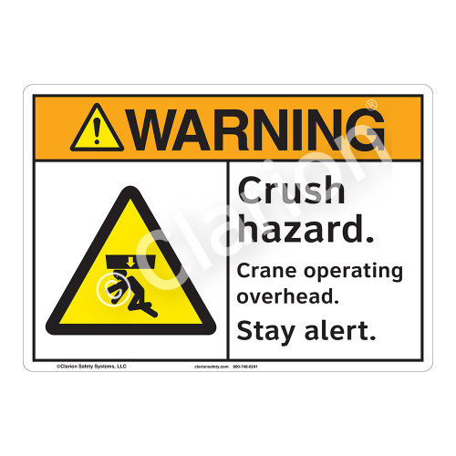 Warning/Crush Hazard Sign (F1247-)