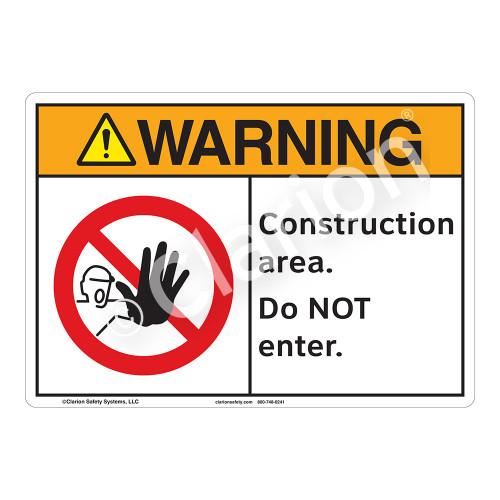 Warning/Construction Area Sign (F1250-)