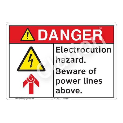 Danger/Electrocution Hazard Sign (F1252-)