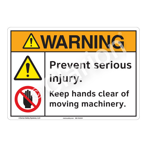 Warning/Prevent Serious Injury Sign (F1253-)