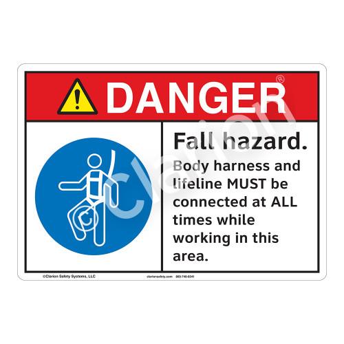 Danger/Fall Hazard Sign (F1254-)