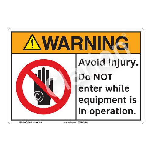 Warning/Do Not Enter Sign (F1255-)