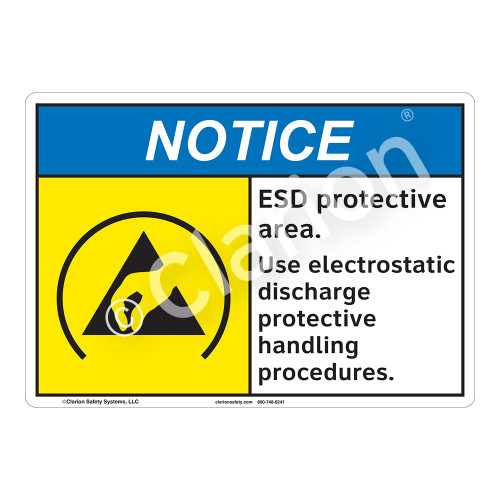 Notice/ESD Protective Area Sign (F1270-)