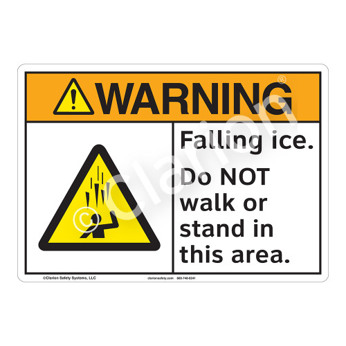 Warning/Falling Ice Sign (F1277-)