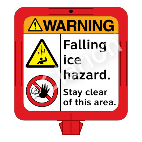 Warning/Falling Ice Sign (F1280-)