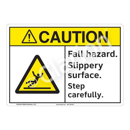 Caution/Fall Hazard Sign (F1285-)