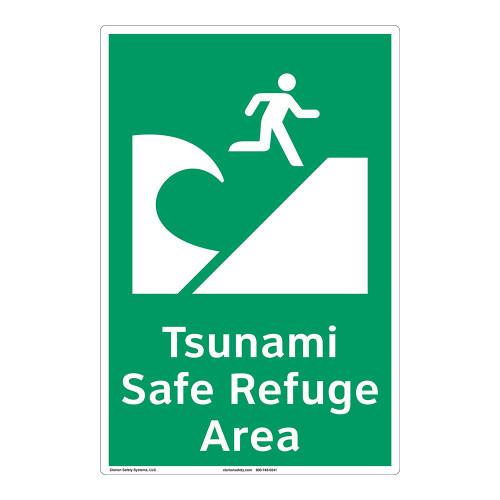 Tsunami Safe Refuge Area Sign (F1291-)
