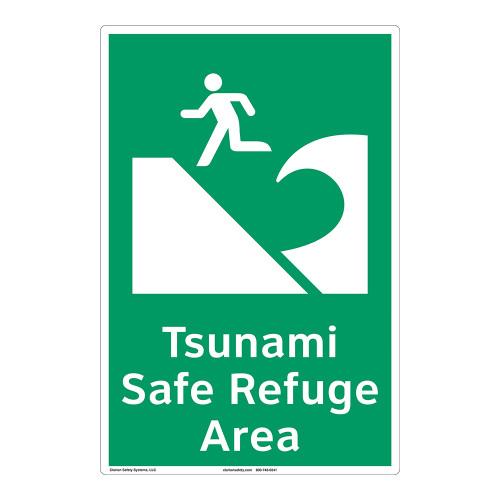 Tsunami Safe Refuge Area Sign (F1292-)