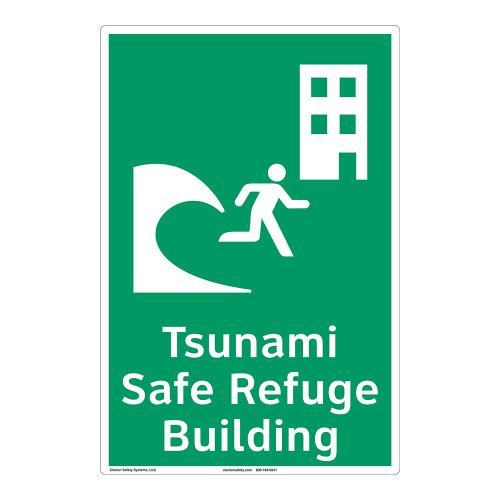 Tsunami Safe Refuge Building Sign (F1293-)