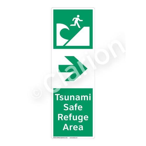 Tsunami Safe Refuge Area Sign (F1295-)