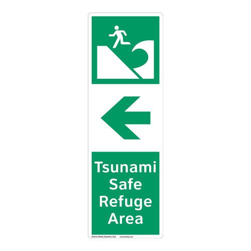 Tsunami Safe Refuge Area Sign (F1296-)