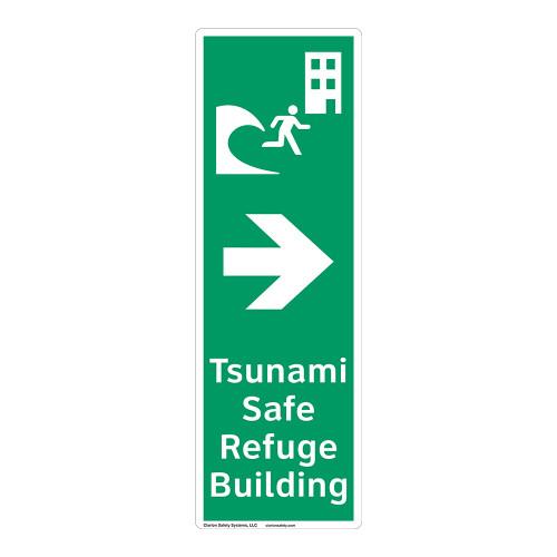 Tsunami Safe Refuge Building Sign (F1297-)