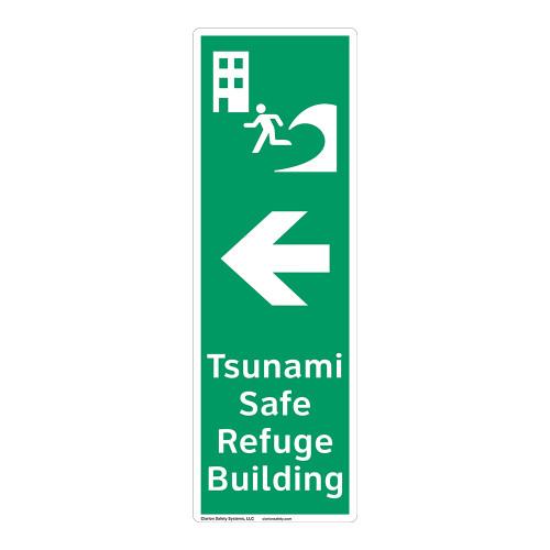Tsunami Safe Refuge Building Sign (F1298-)
