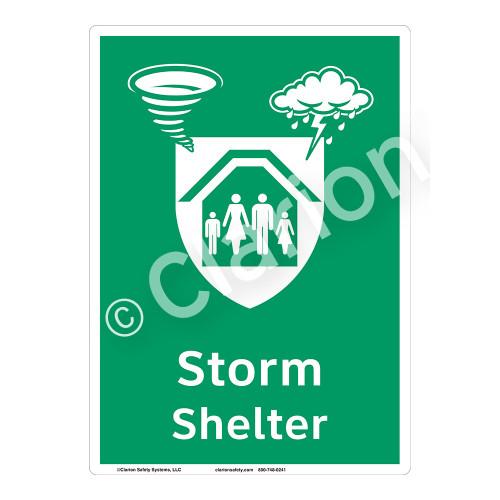 Storm Shelter Sign (F1299-)