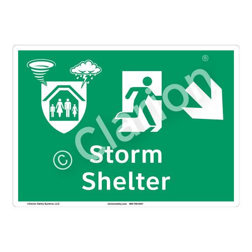 Storm Shelter Sign (F1301-)