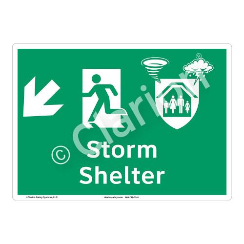 Storm Shelter Sign (F1303-)